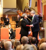 Semyon receiving the award of Honorary Membership of the Royal Academy of Music from Professor Jonathan Freeman-Attwood