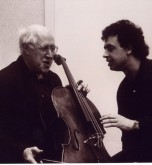 Semyon with Rostropovich in Paris